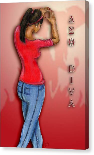 Sorority Canvas Print - Delta Diva by BFly Designs