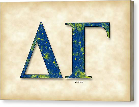Delta Gamma Canvas Print - Delta Gamma - Parchment by Stephen Younts