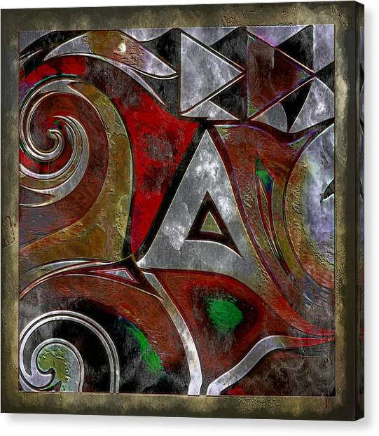 Delta Sigma Theta Canvas Print - Delta Inspired Abstract by Lynda Payton