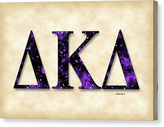 Kappa Delta Canvas Print - Delta Kappa Delta - Parchment by Stephen Younts