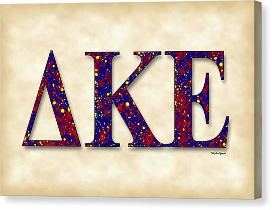 University Of Connecticut Canvas Print - Delta Kappa Epsilon - Parchment by Stephen Younts