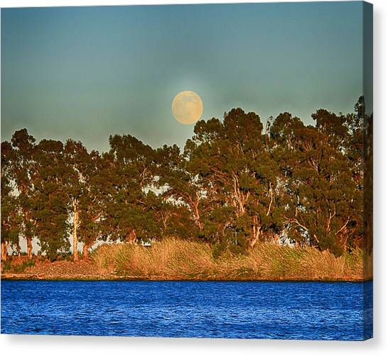 Delta Moonrise Canvas Print