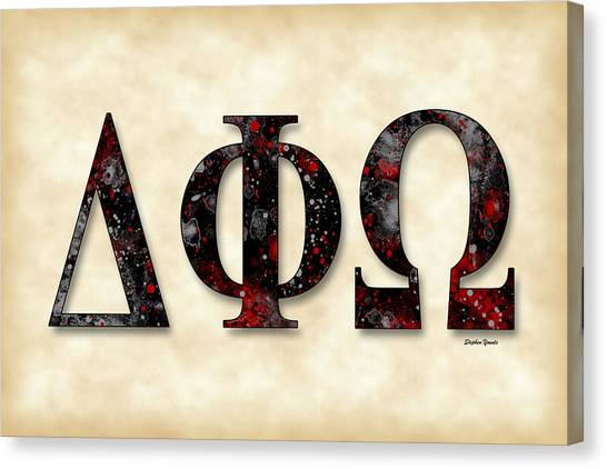 University Of Houston Canvas Print - Delta Phi Omega - Parchment by Stephen Younts