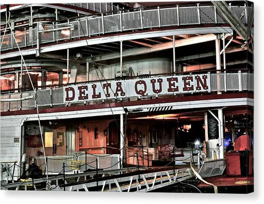 Jibbing Canvas Print - Delta Queen Up Close by Frozen in Time Fine Art Photography