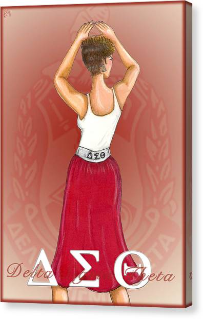 Tanks Canvas Print - Delta Sigma Theta by BFly Designs