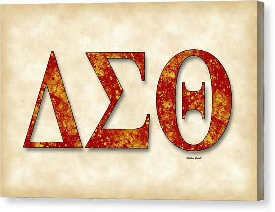Fraternity Canvas Print - Delta Sigma Theta - Parchment by Stephen Younts