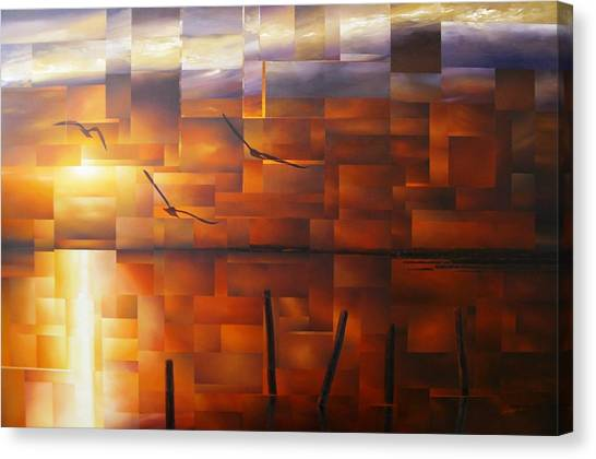 Delta Sunset Canvas Print by Laurend Doumba