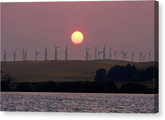 Delta Sunset Canvas Print