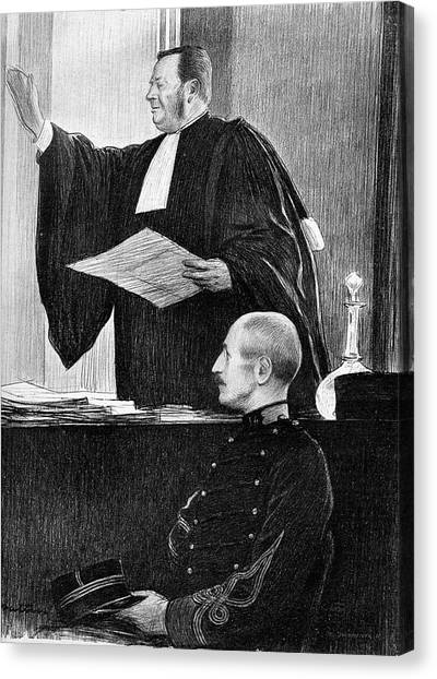 Controversial Canvas Print - Demange And Dreyfus In Court by Collection Abecasis