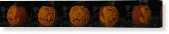 Demented Mister Ullman Pumpkin 3 Canvas Print