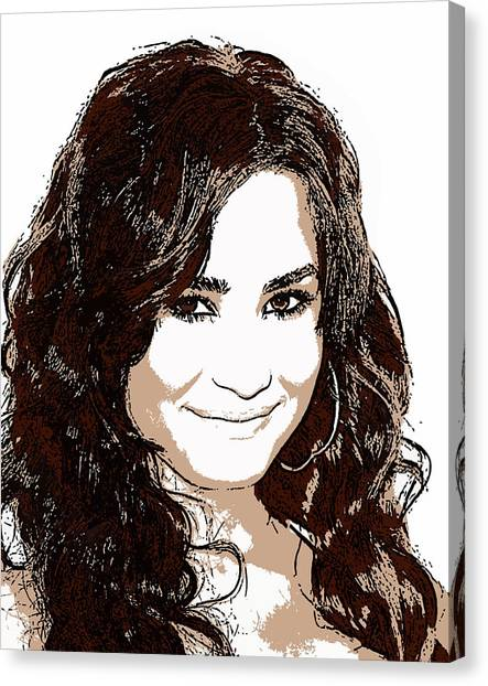 Demi Lovato 2 Canvas Print by John Novis