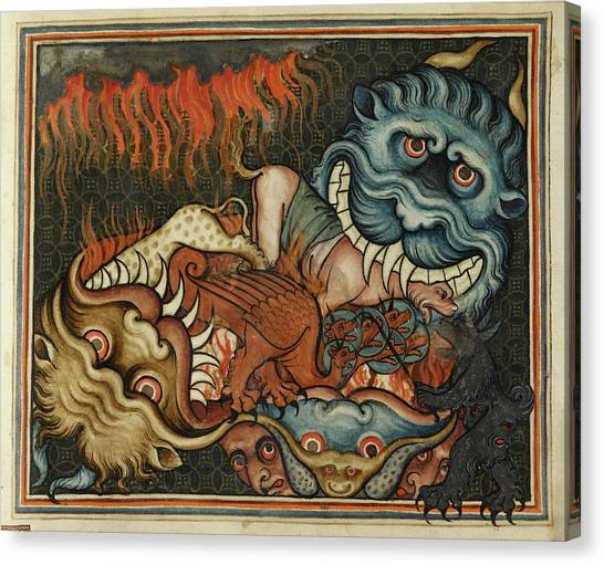 Mythological Creatures Canvas Print - Demonic Beasts by British Library