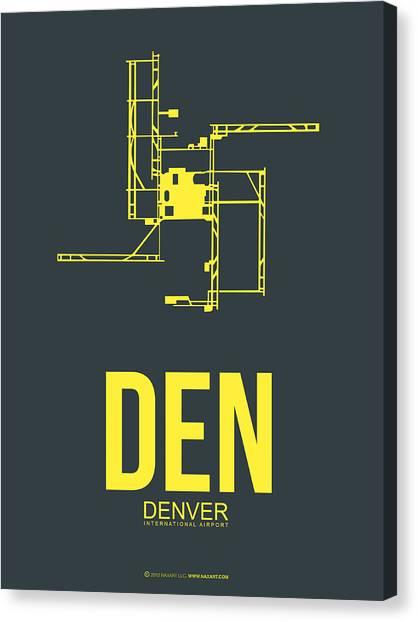 Denver Canvas Print - Den Denver Airport Poster 1 by Naxart Studio