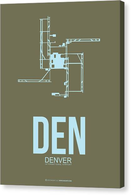 Denver Canvas Print - Den Denver Airport Poster 3 by Naxart Studio