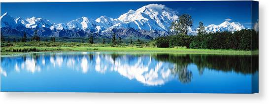 Mountainscape Canvas Print - Denali National Park Ak Usa by Panoramic Images