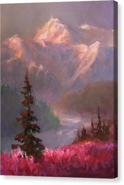 Denali Summer - Alaskan Mountains In Summer Canvas Print