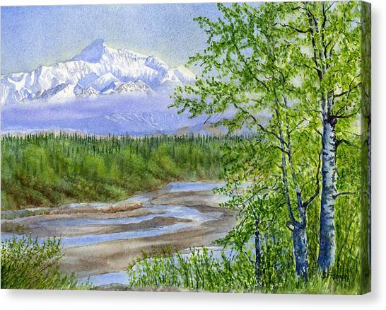 Denali Canvas Print - Denali Viewpoint by Sharon Freeman