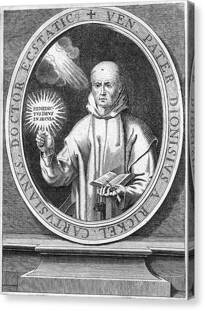Chartreuxes Canvas Print - Denis The Carthusian (c1402-1471) by Granger