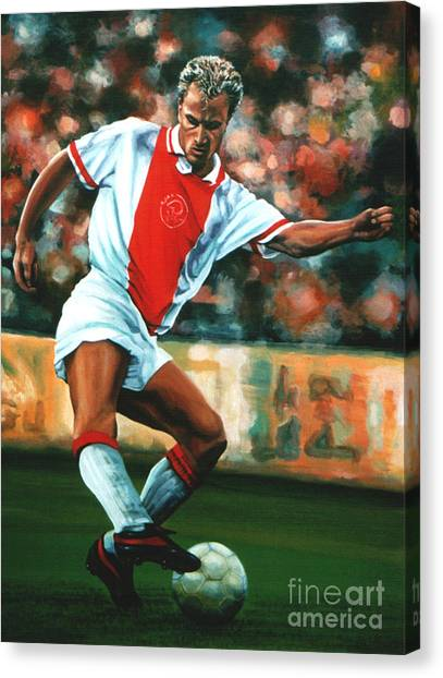 Law Canvas Print - Dennis Bergkamp 2 by Paul Meijering