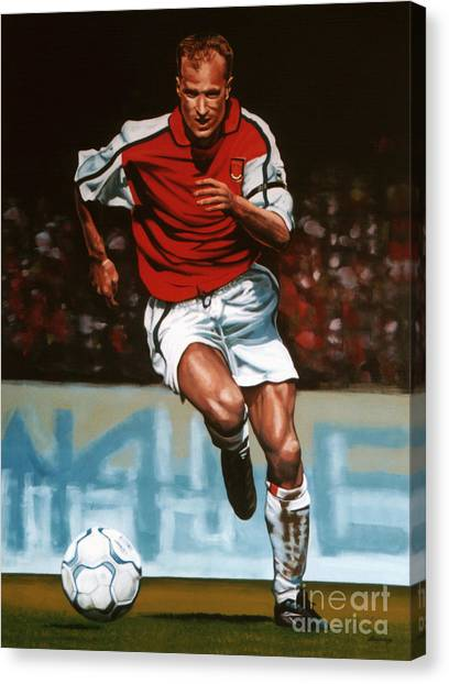 Goal Canvas Print - Dennis Bergkamp by Paul Meijering