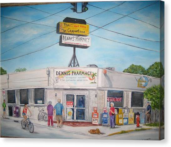 Dennis Pharmacy - No More Refills Canvas Print
