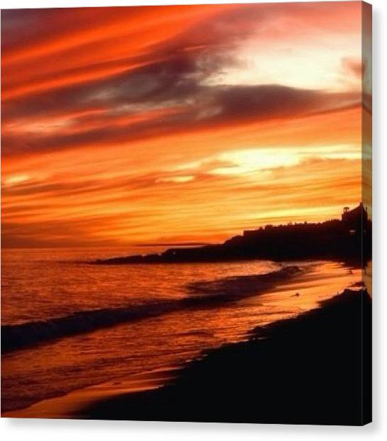 Massachusetts Canvas Print - Dennisport, Ma. Cape Cod.  #sunset by Joann Vitali