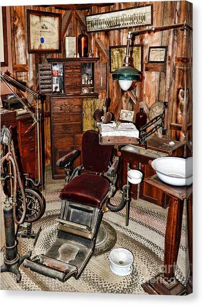 Cavity Canvas Print - Dentist - The Dentist Chair by Paul Ward