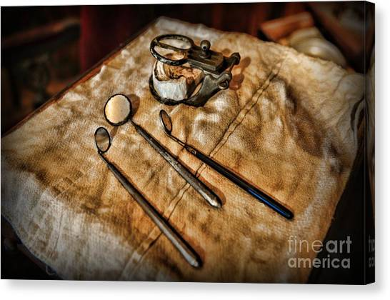 Toothbrush Canvas Print - Dentist - The Mouth Mirror by Paul Ward