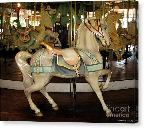 Canvas Print featuring the photograph Dentzel Menagerie Carousel Horse by Rose Santuci-Sofranko