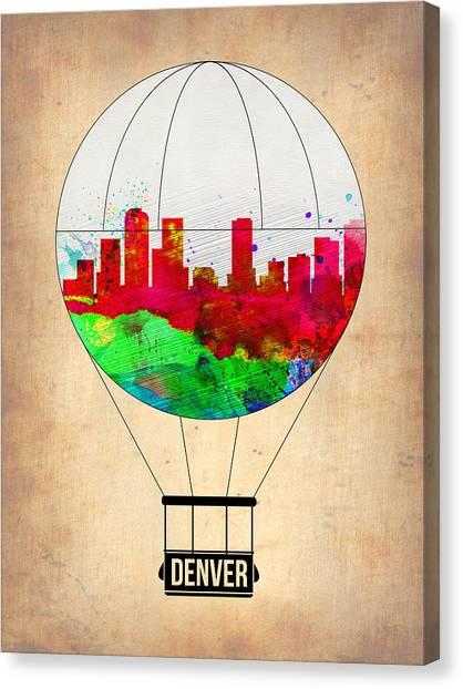 Denver Canvas Print - Denver Air Balloon by Naxart Studio