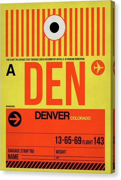 Denver Canvas Print - Denver Airport Poster 3 by Naxart Studio