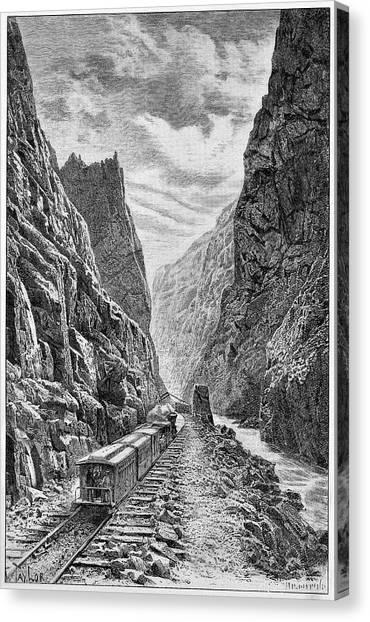 Rio Grande River Canvas Print - Denver And Rio Grande Railroad by Cci Archives