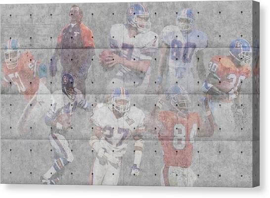 Bronco Canvas Print - Denver Broncos Legends by Joe Hamilton