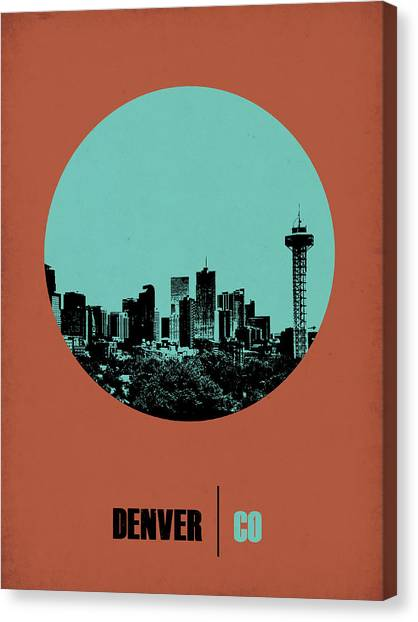 Denver Canvas Print - Denver Circle Poster 1 by Naxart Studio