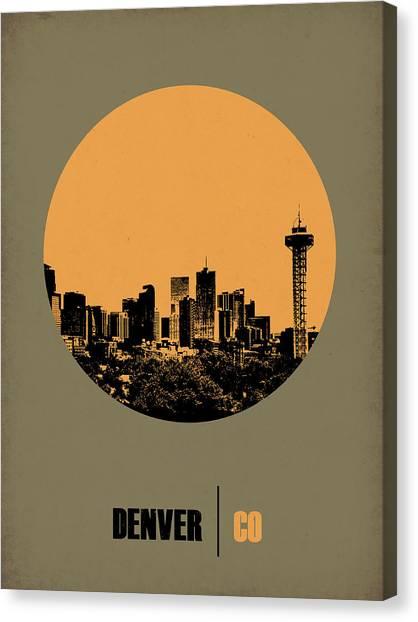 Denver Canvas Print - Denver Circle Poster 2 by Naxart Studio