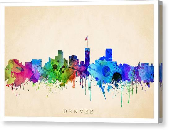 Denver Cityscape Canvas Print