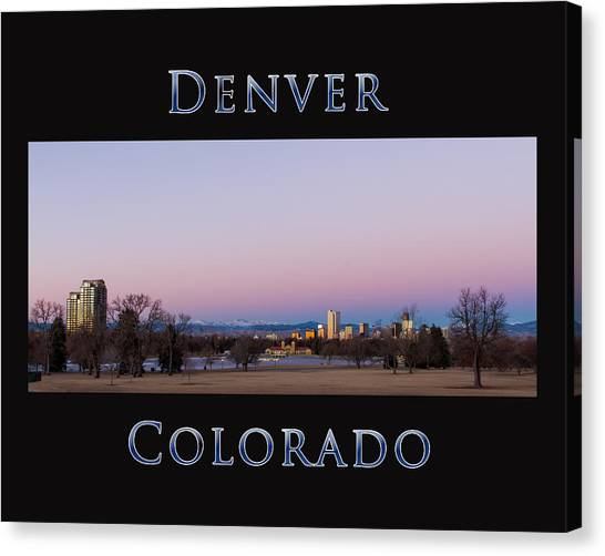 Denver Colorado Sunrise Canvas Print