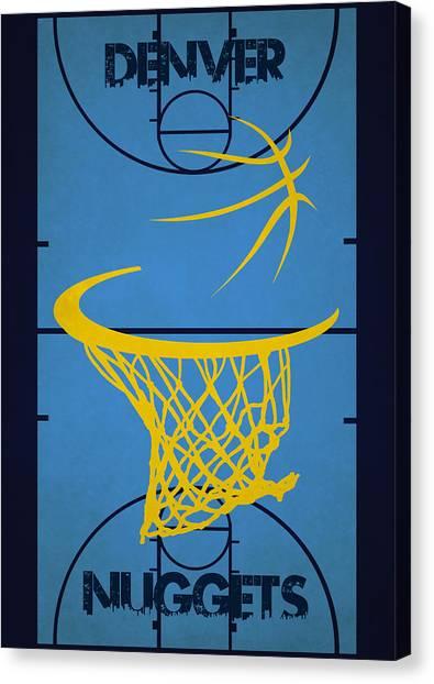 Denver Nuggets Canvas Print - Denver Nuggets Court by Joe Hamilton