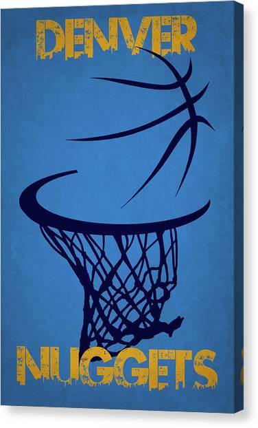 Denver Nuggets Canvas Print - Denver Nuggets Hoop by Joe Hamilton