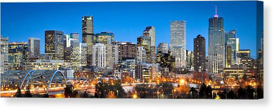 Denver Twilight Canvas Print