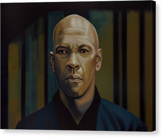 Washington Canvas Print - Denzel Washington In The Equalizer Painting by Paul Meijering