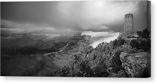 Departing Storm Grand Canyon At Desert View Canvas Print