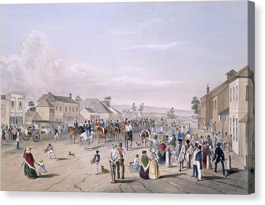 Immigration Canvas Print - Departure Of Captain Sturt by George French Angas