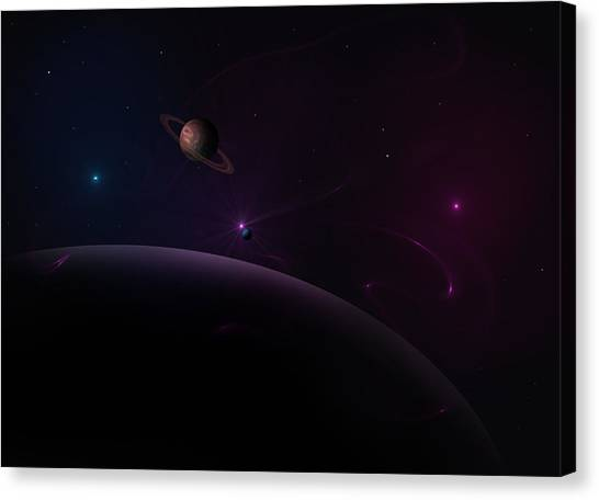 Depth Of Space Canvas Print by Ricky Haug