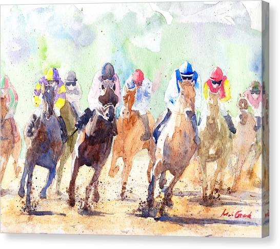 Kentucky Derby Canvas Print - Derby by Max Good