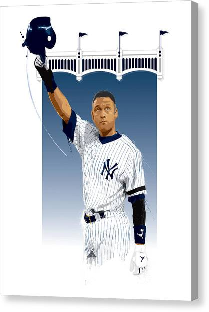 Derek Jeter 3000 Hits Canvas Print