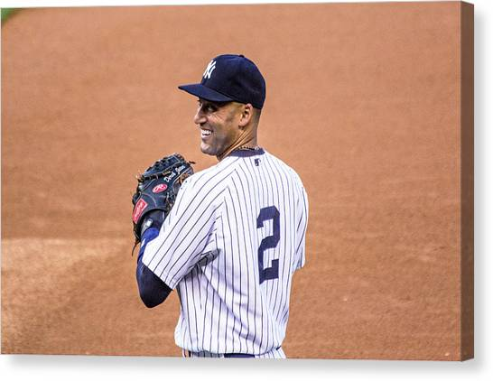 Derek Jeter Canvas Print - Derek Jeter  by James Jenks