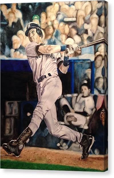 Derek Jeter Canvas Print - Derek Jeter by Lance Gebhardt