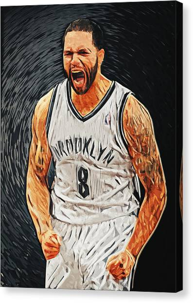Brooklyn Nets Canvas Print - Deron Williams by Taylan Apukovska