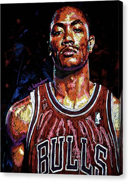 Derrick Rose-2 Canvas Print